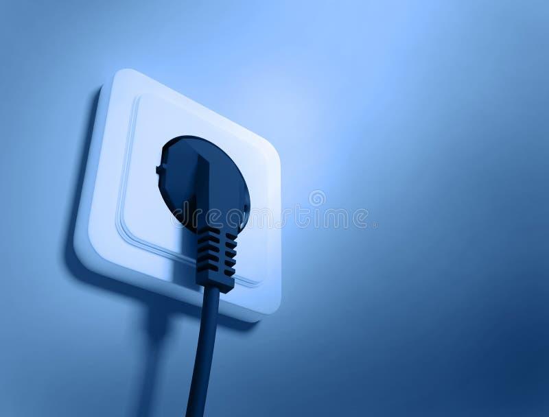 elektrisk stickkontakt stock illustrationer