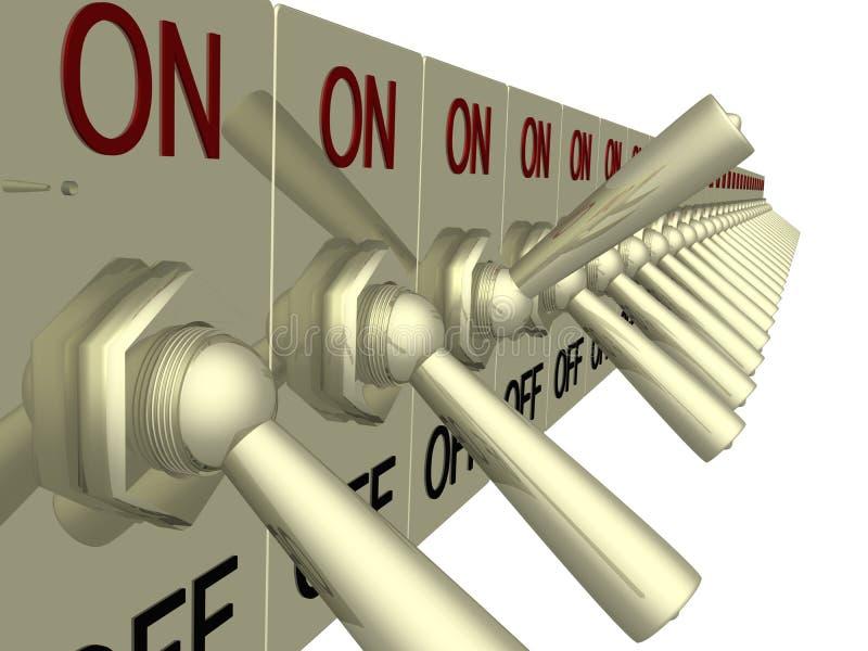 elektrisk strömbrytare stock illustrationer
