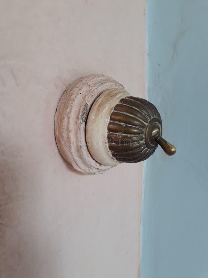 Elektrisk strömbrytare för klassisk period royaltyfri bild