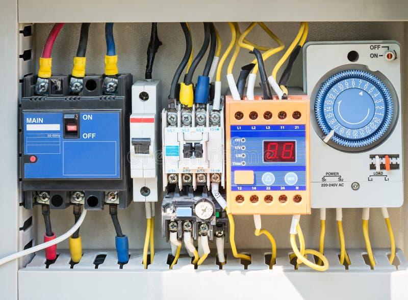 elektrisk switchboard arkivbilder