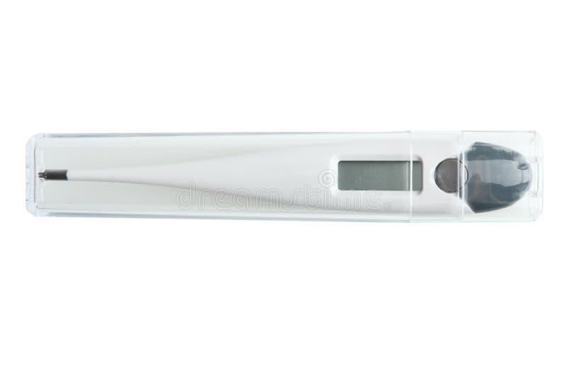 Elektrisk termometer royaltyfri bild