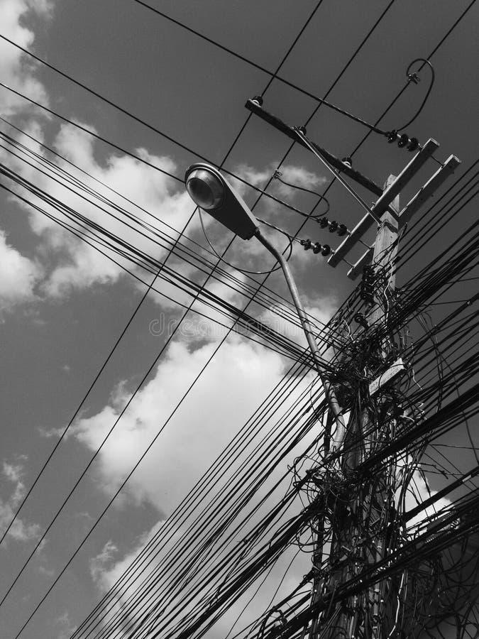 elektrisk tråd fotografering för bildbyråer