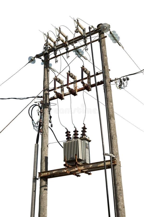 elektrisk transformator royaltyfri fotografi