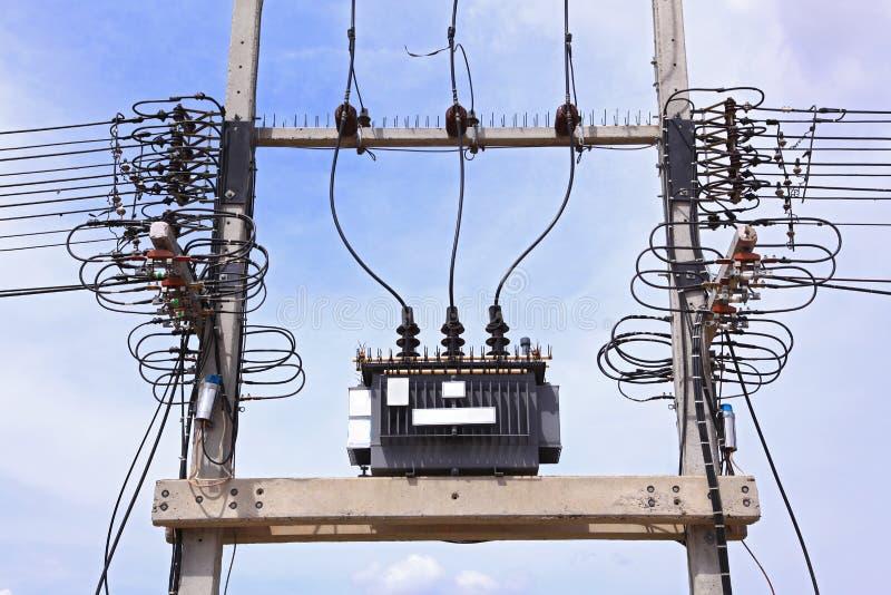 elektrisk transformator arkivbilder