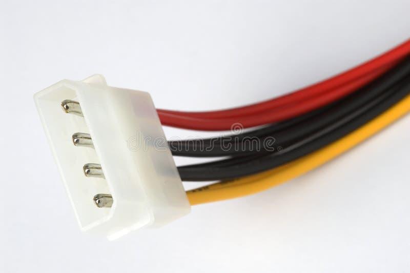 elektriska datoranslutningar arkivfoton