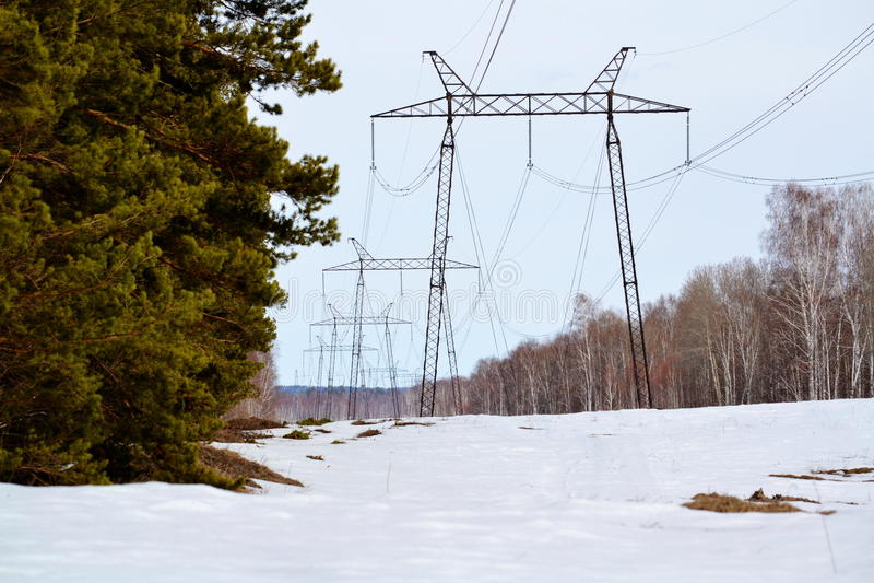 Elektriska fulla lutanden fotografering för bildbyråer