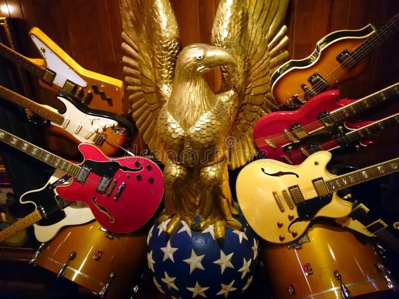 elektriska gitarrer fotografering för bildbyråer