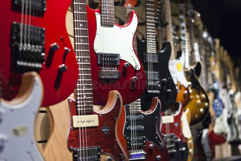 elektriska gitarrer royaltyfri foto