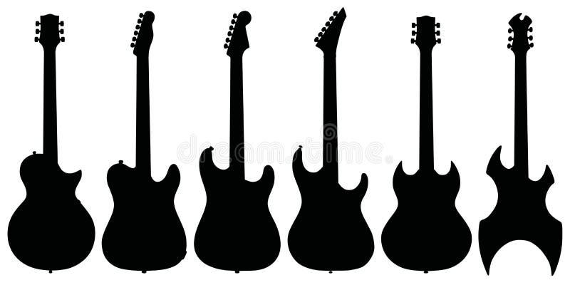 elektriska gitarrer vektor illustrationer