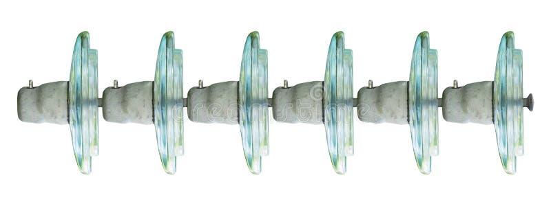Elektriska Glass isolatorer royaltyfri fotografi