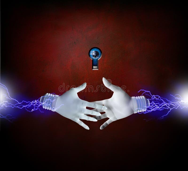 elektriska händer vektor illustrationer