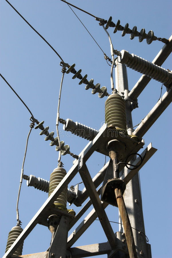 elektriska isolatorer arkivbilder