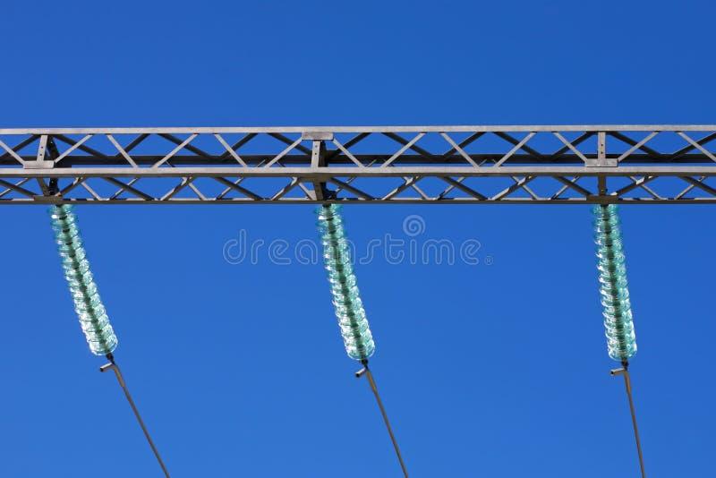 elektriska isolatorer royaltyfri fotografi