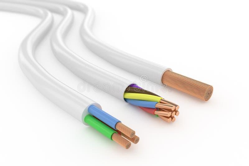 Elektriska kablar stock illustrationer