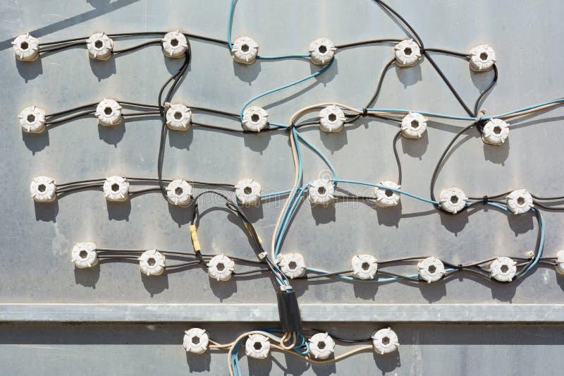 Elektriska kontaktdon arkivfoto