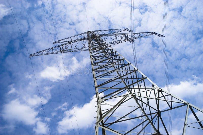 elektriska pylons royaltyfria foton