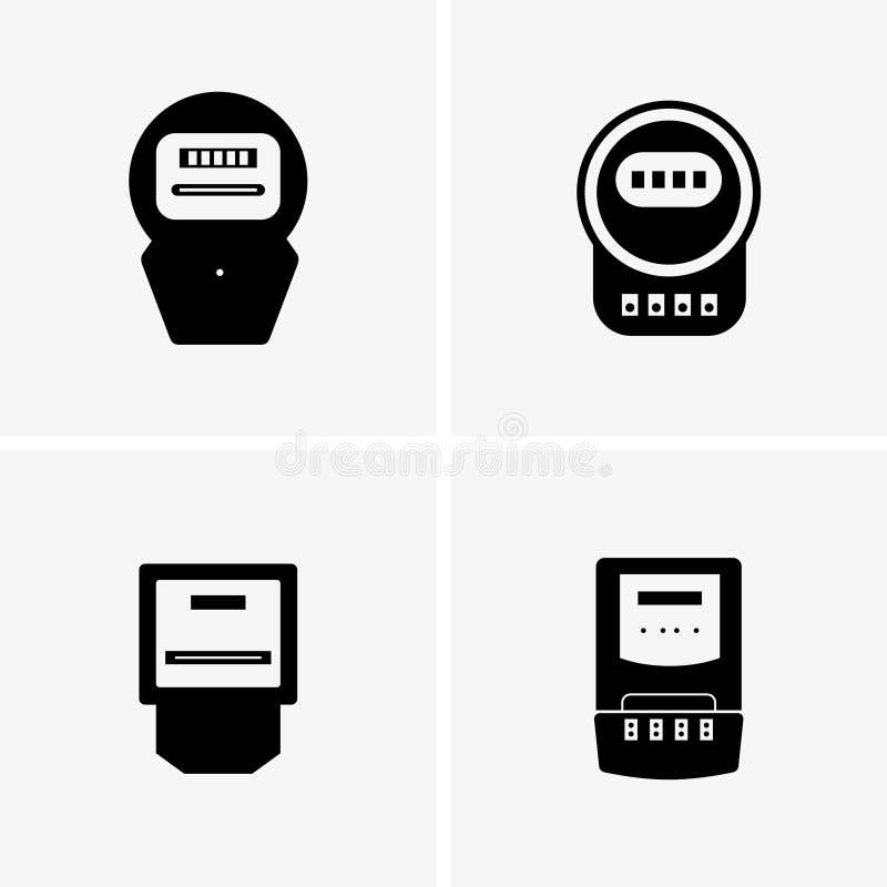 elektriska räkneverk royaltyfri illustrationer