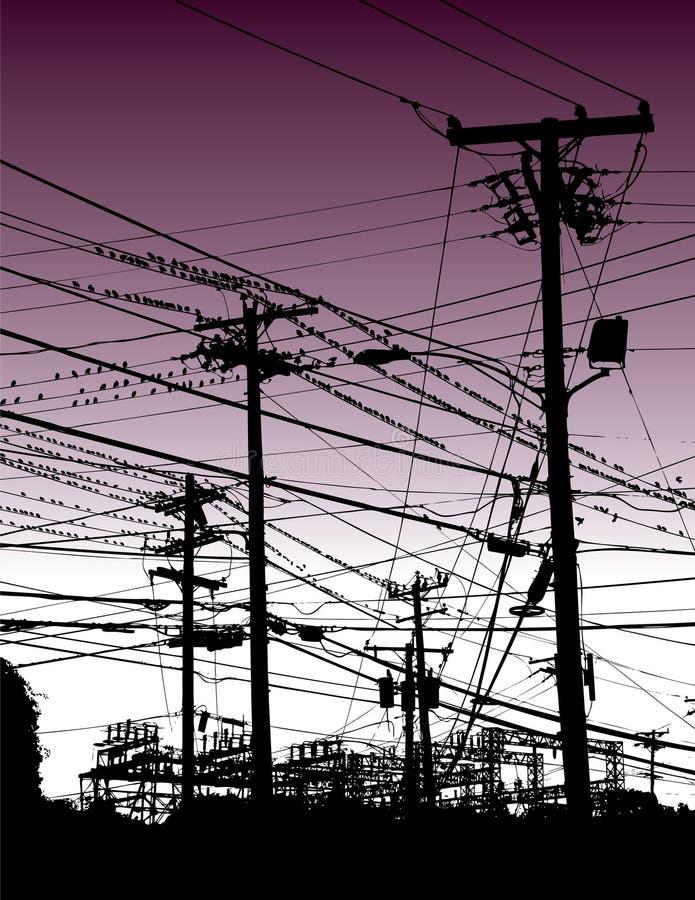 elektriska trådar vektor illustrationer