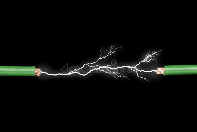 elektriska trådar för båge arkivbilder