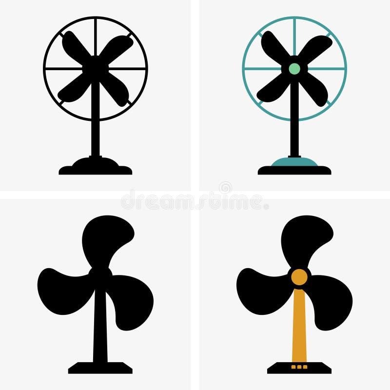 Elektriska ventilatorer royaltyfri illustrationer