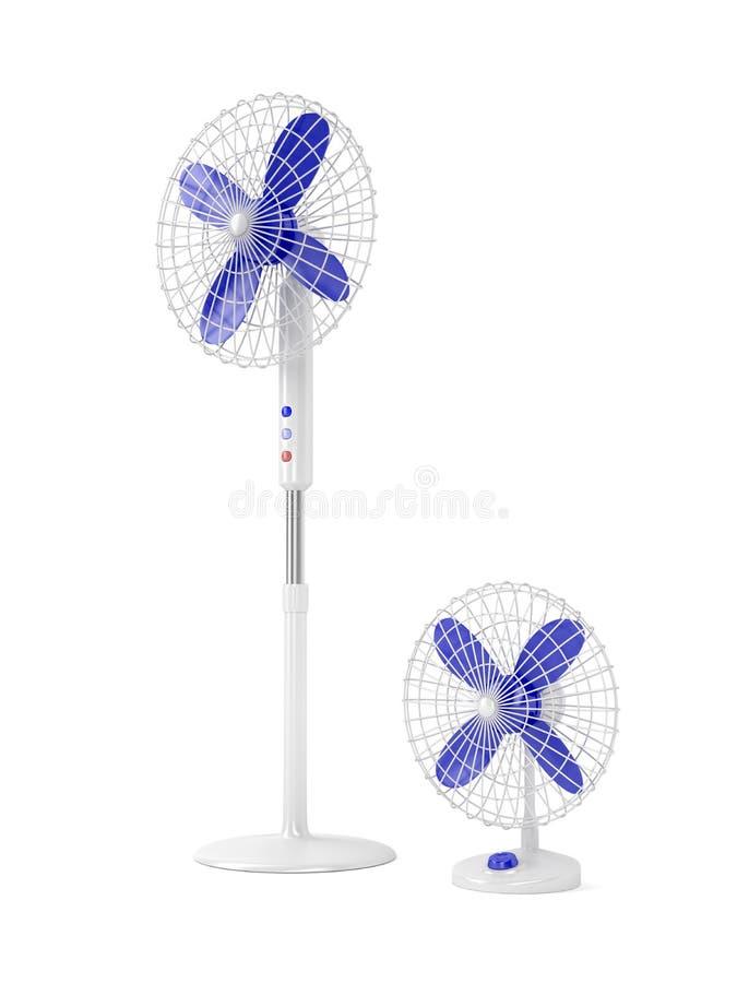Elektriska ventilatorer stock illustrationer
