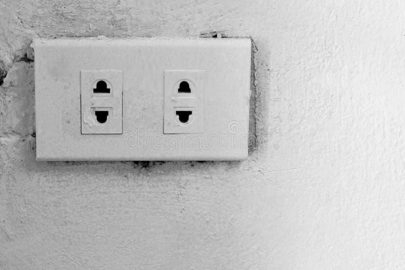elektriskt gammalt uttag royaltyfri fotografi