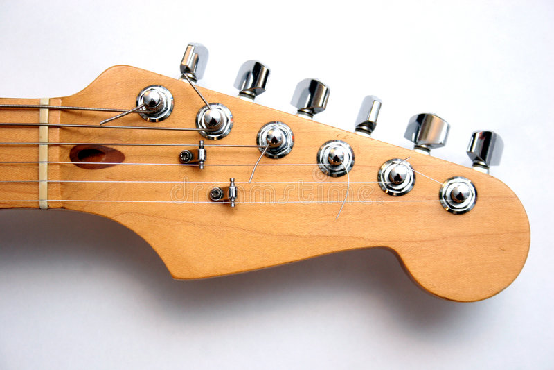 elektriskt gitarrhuvud royaltyfria foton