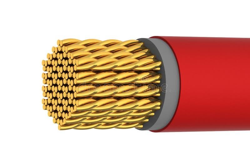 elektriskt guld- blankt för kabel stock illustrationer