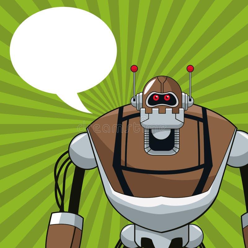 Elektriskt mekaniskt bubblaanförande för robot royaltyfri illustrationer