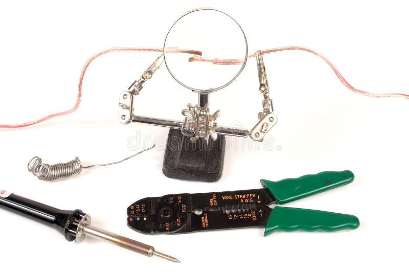 Elektriskt Progressarbete Arkivbild