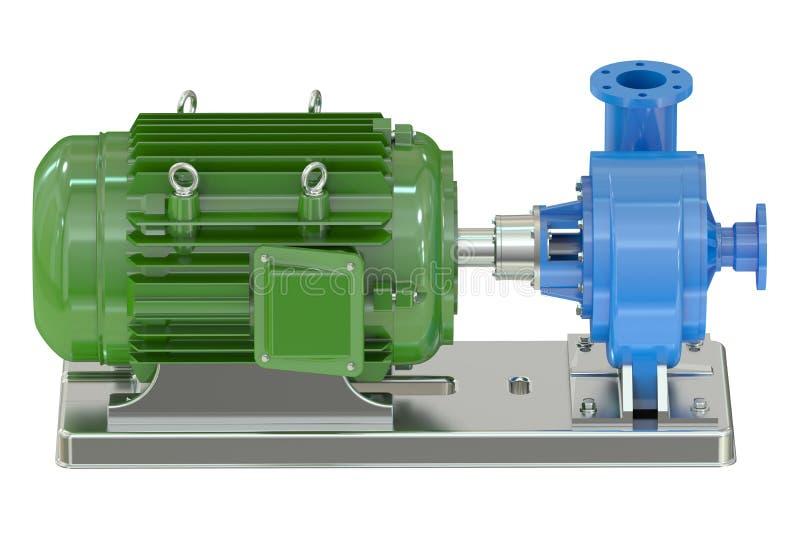 elektriskt pumpvatten royaltyfri illustrationer