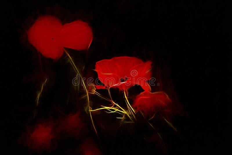 Elektriskt rött arkivfoto