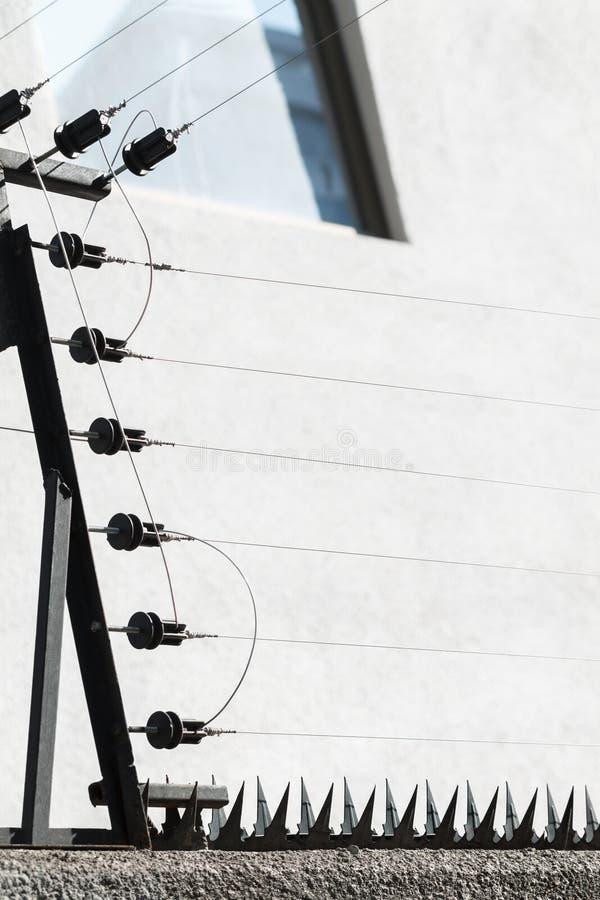 elektriskt staket arkivfoton