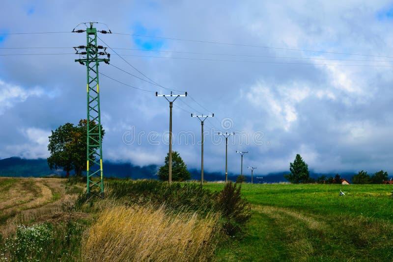 Elektriskt system i natur arkivfoto