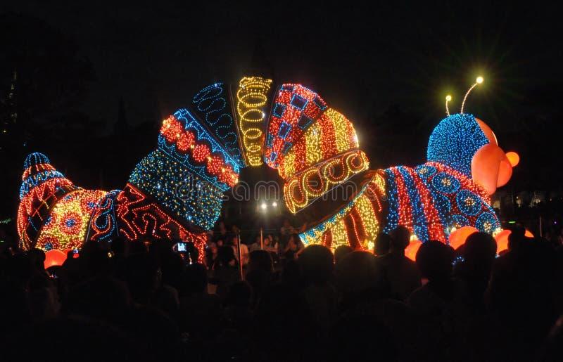 Elektriskt Tokyo Disney land ståtar. royaltyfri fotografi