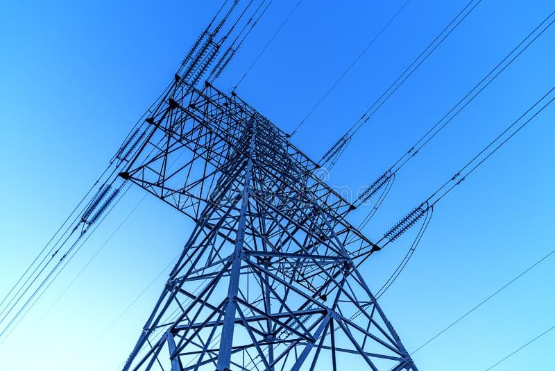 Elektriskt torn i porslin arkivbild