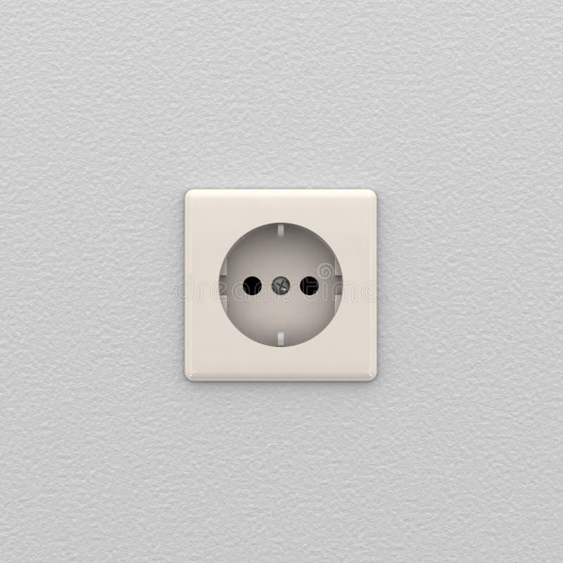 elektriskt uttag royaltyfri illustrationer