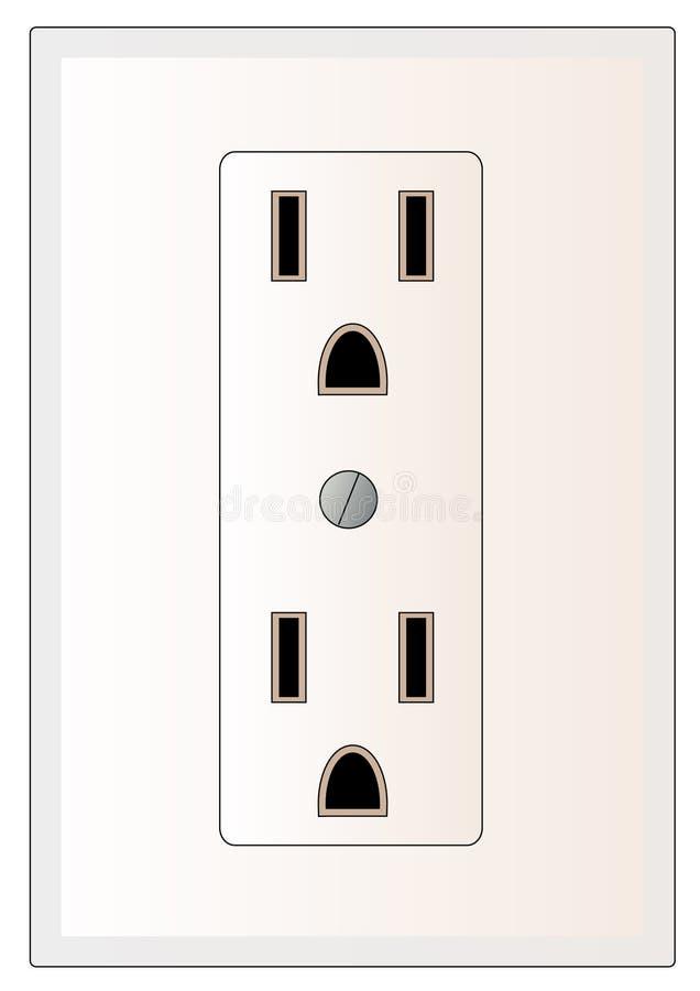 elektriskt uttag stock illustrationer