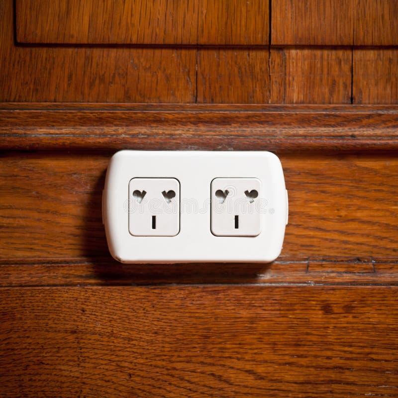 elektriskt uttag royaltyfri bild
