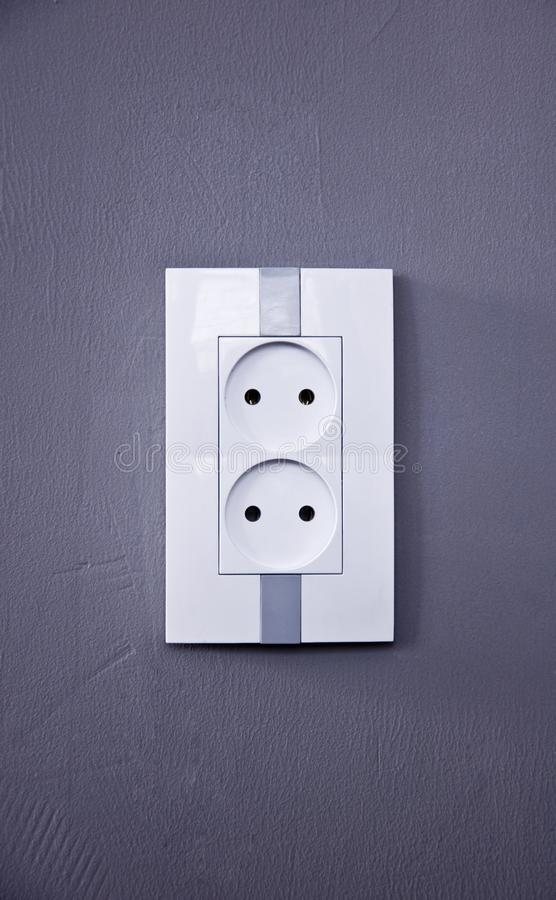 Elektriskt uttag för anordningar royaltyfri bild