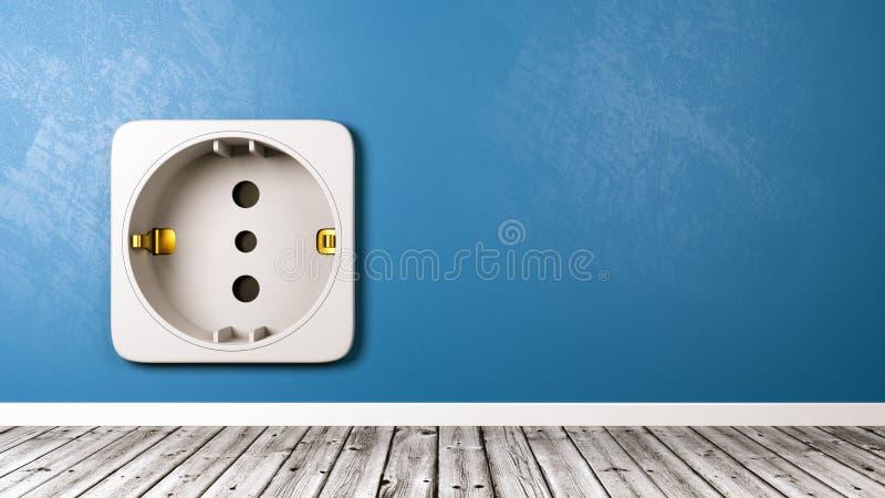 Elektriskt uttag i rumnärbilden stock illustrationer