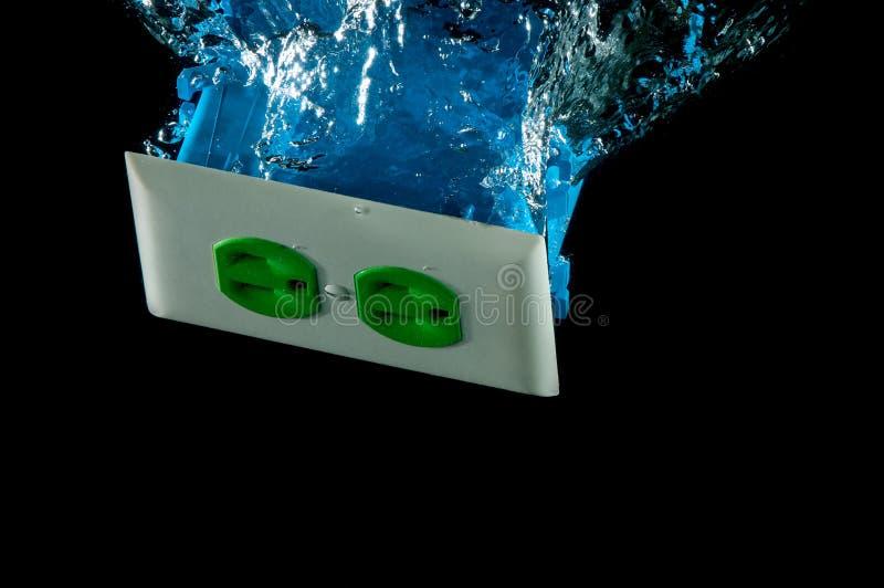 elektriskt vatten för uttagmodellfärgstänk arkivbild