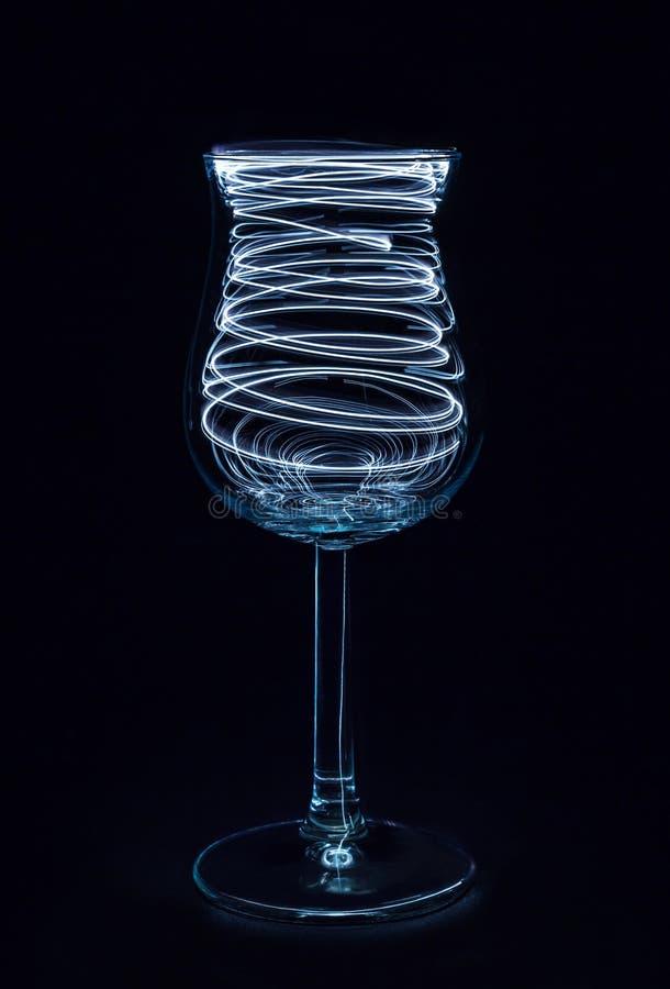 Elektriskt vinexponeringsglas arkivfoton