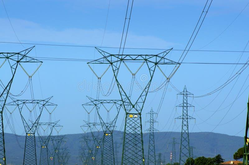 Elektrizität und Natur lizenzfreies stockbild