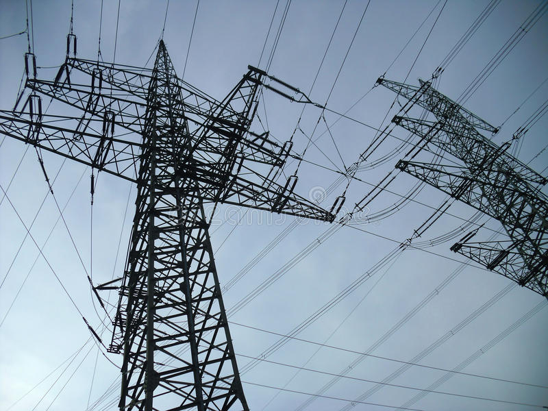 Elektrizitäts-Gondelstiel stockfotografie