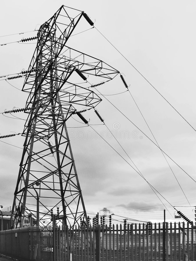Elektrizitäts-Gondelstiel lizenzfreie stockbilder
