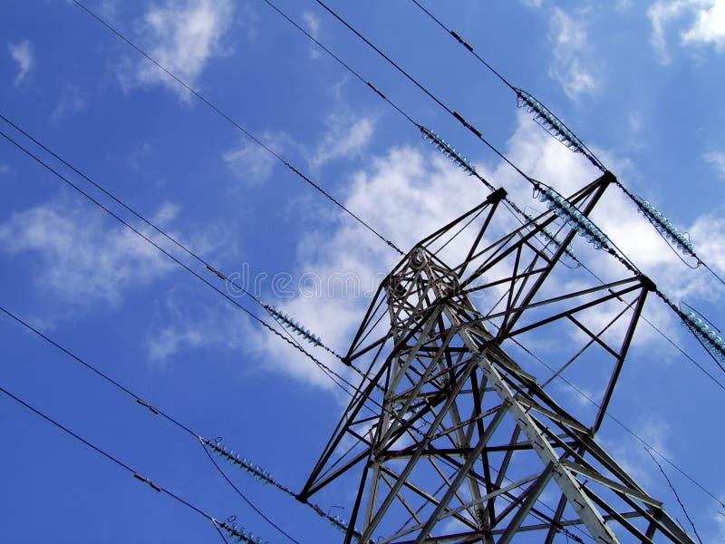Elektrizitäts-Gondelstiel/Kontrollturm Lizenzfreies Stockfoto
