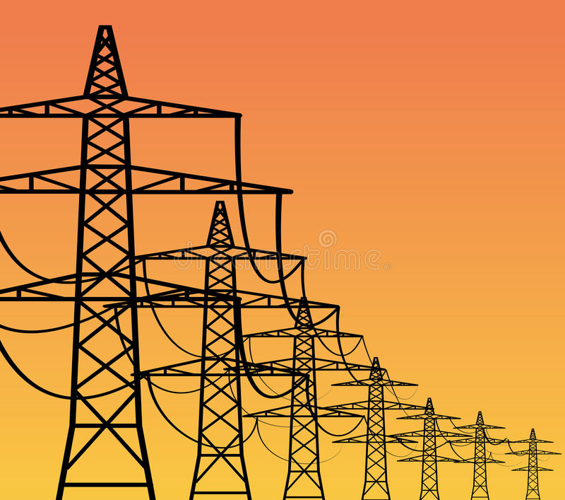 Elektrizitäts-Gondelstiele stock abbildung