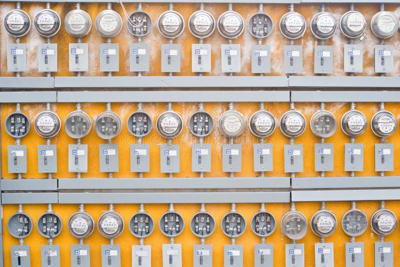 Elektrizitäts-Messinstrumente stockfoto