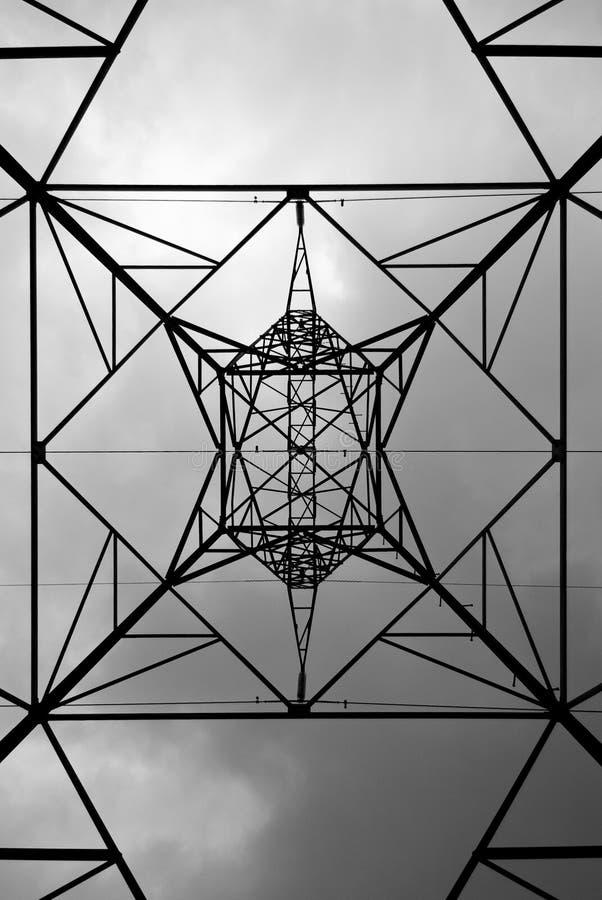 Elektrizitätsgondelstiel stockbild